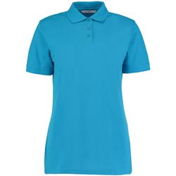 Textiel Dames Polo's korte mouwen Kustom Kit Klassic Turquoise