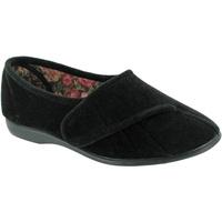 Schoenen Dames Sloffen Gbs Audrey Velcro Zwart