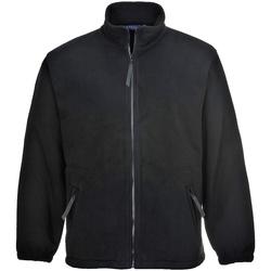 Textiel Heren Fleece Portwest Argyll Zwart