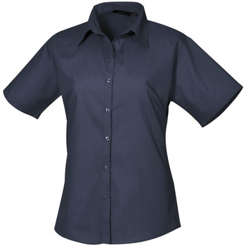 Textiel Dames Overhemden Premier PR302 Marine