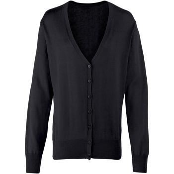 Textiel Dames Vesten / Cardigans Premier Button Through Zwart