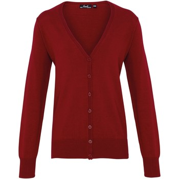Textiel Dames Vesten / Cardigans Premier Button Through Bourgondië