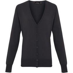Textiel Dames Vesten / Cardigans Premier Button Through Houtskool
