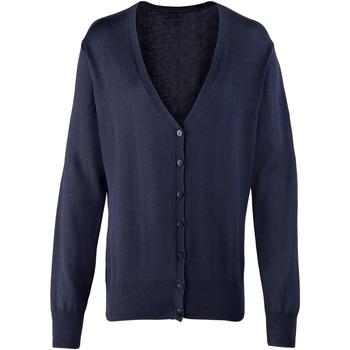 Textiel Dames Vesten / Cardigans Premier Button Through Marine