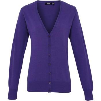 Textiel Dames Vesten / Cardigans Premier Button Through Paars