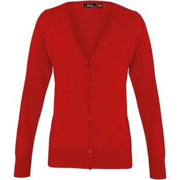 Textiel Dames Vesten / Cardigans Premier Button Through Rood