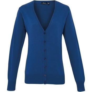 Textiel Dames Vesten / Cardigans Premier Button Through Koninklijk