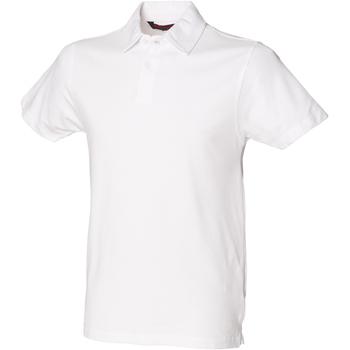 Textiel Heren Polo's korte mouwen Skinni Fit SFM42 Wit