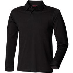 Textiel Heren Polo's lange mouwen Skinni Fit SFM44 Zwart