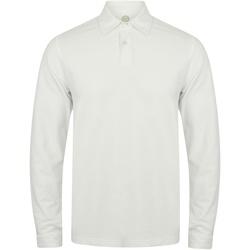 Textiel Heren Polo's lange mouwen Skinni Fit SFM44 Wit