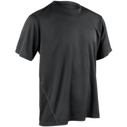 Textiel Heren T-shirts korte mouwen Spiro S253M Zwart