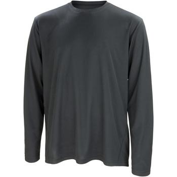 Textiel Heren T-shirts met lange mouwen Spiro S254M Zwart