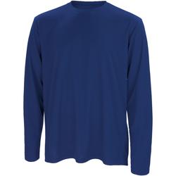 Textiel Heren T-shirts met lange mouwen Spiro S254M Marine