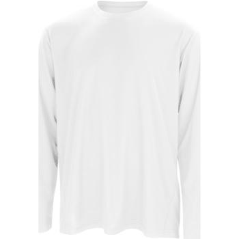 Textiel Heren T-shirts met lange mouwen Spiro S254M Wit