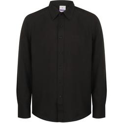 Textiel Heren Overhemden lange mouwen Henbury HB590 Zwart