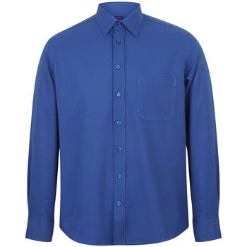 Textiel Heren Overhemden lange mouwen Henbury HB590 Koninklijk