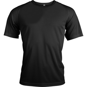 Textiel Heren T-shirts korte mouwen Kariban Proact PA438 Zwart