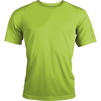 Textiel Heren T-shirts korte mouwen Kariban Proact PA438 Kalk