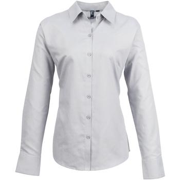 Textiel Dames Overhemden Premier PR334 Zilver