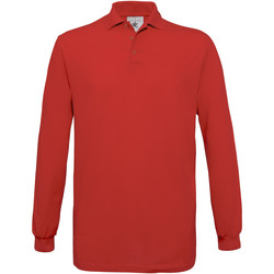 Textiel Heren Polo's lange mouwen B And C PU414 Rood