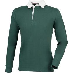 Textiel Heren Polo's lange mouwen Front Row FR104 Fles
