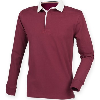 Textiel Heren Polo's lange mouwen Front Row FR104 Bourgondië