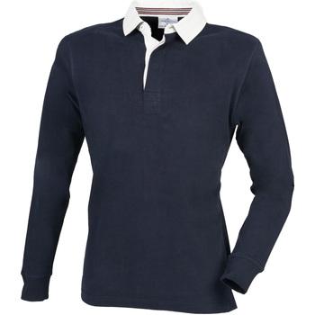 Textiel Heren Polo's lange mouwen Front Row FR104 Marine