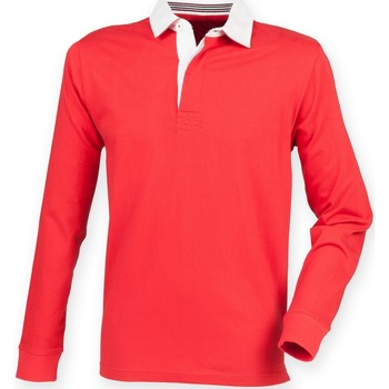 Textiel Heren Polo's lange mouwen Front Row FR104 Rood