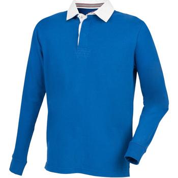 Textiel Heren Polo's lange mouwen Front Row FR104 Koninklijk