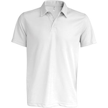 Textiel Heren Polo's korte mouwen Kariban Proact PA482 Wit