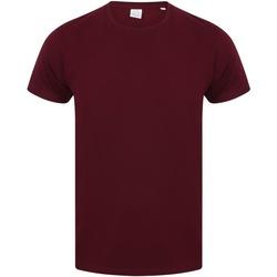 Textiel Heren T-shirts korte mouwen Skinni Fit SF121 Bourgondië