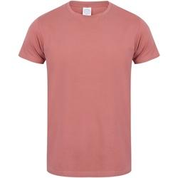 Textiel Heren T-shirts korte mouwen Skinni Fit SF121 Klei