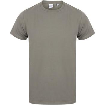 Textiel Heren T-shirts korte mouwen Skinni Fit SF121 Khaki