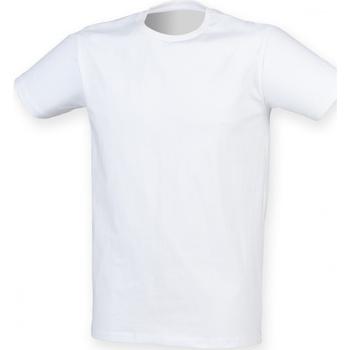 Textiel Heren T-shirts korte mouwen Skinni Fit SF121 Wit