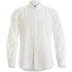 Textiel Heren Overhemden lange mouwen Kustom Kit KK161 Wit
