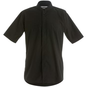 Textiel Heren Overhemden korte mouwen Kustom Kit KK160 Zwart