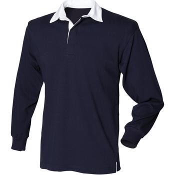 Textiel Heren Polo's lange mouwen Front Row Rugby Marine