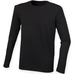 Textiel Heren T-shirts met lange mouwen Skinni Fit SF124 Zwart