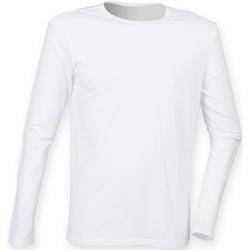 Textiel Heren T-shirts met lange mouwen Skinni Fit SF124 Wit