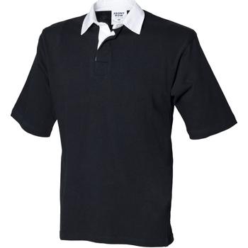 Textiel Heren Polo's korte mouwen Front Row FR03M Zwart