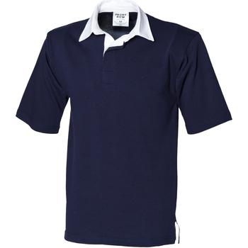Textiel Heren Polo's korte mouwen Front Row FR03M Marine