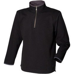 Textiel Heren Fleece Front Row Soft Touch Zwart