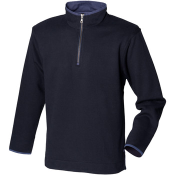 Textiel Heren Fleece Front Row Soft Touch Marine