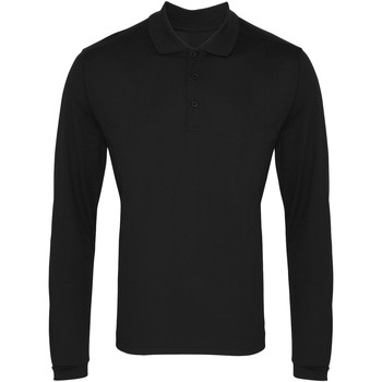 Textiel Heren Polo's lange mouwen Premier PR617 Zwart