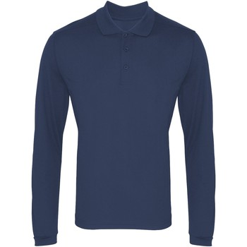Textiel Heren Polo's lange mouwen Premier PR617 Marine