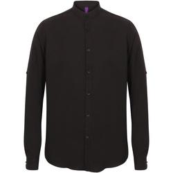 Textiel Heren Overhemden lange mouwen Henbury HB592 Zwart
