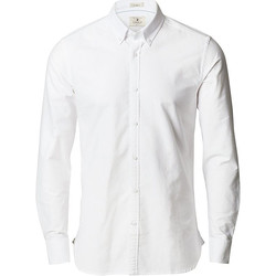 Textiel Heren Overhemden lange mouwen Nimbus NB66 Wit