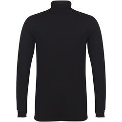 Textiel Heren T-shirts met lange mouwen Skinni Fit SF125 Zwart