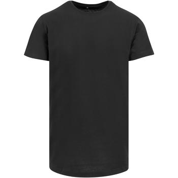 Textiel Heren T-shirts korte mouwen Build Your Brand Shaped Zwart