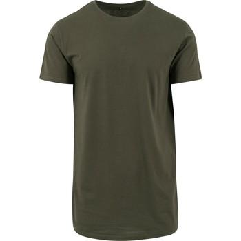 Textiel Heren T-shirts korte mouwen Build Your Brand Shaped Olijf